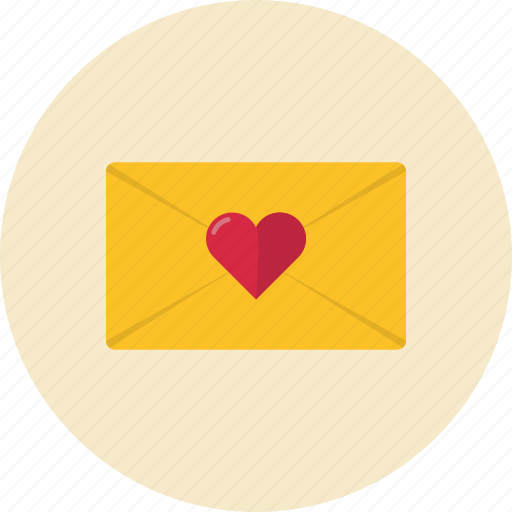 envelope, heart, love, message icon