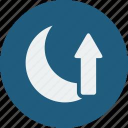 moon, rise icon