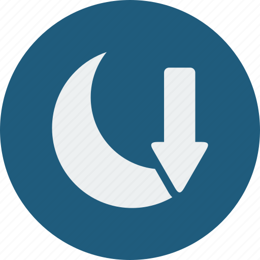 moon, set icon