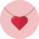 heart, love, necklace, romantic, valentine, valentines icon