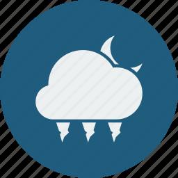 hailstones, night icon