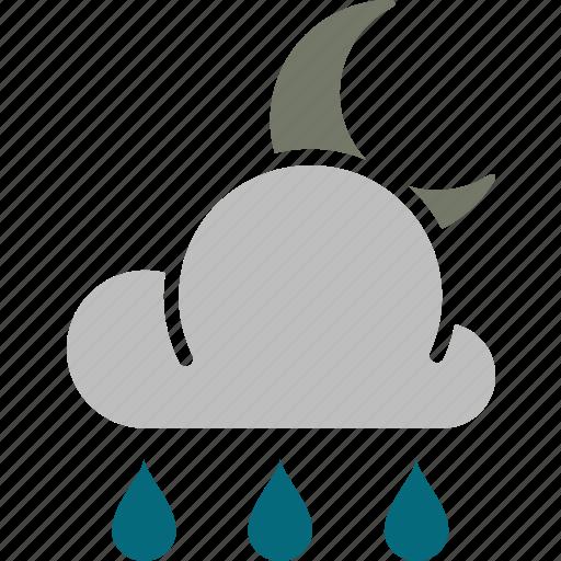 night, rain icon