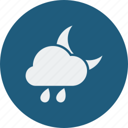 night, rainy icon