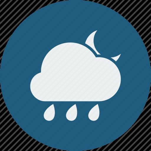 night, rainy icon