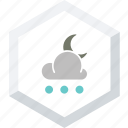 night, small, snowfall icon
