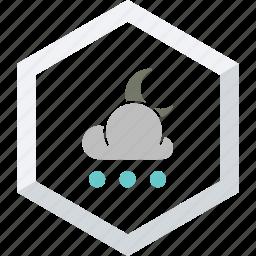 night, small, snowfall icon