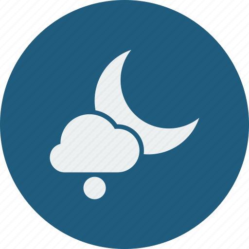night, snowball icon