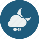 night, snowball, snowfall icon