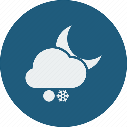 night, snowball, snowfall icon