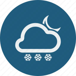 night, snowfall icon
