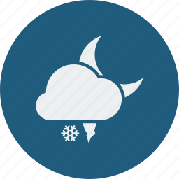 hailstones, night, snowfall icon