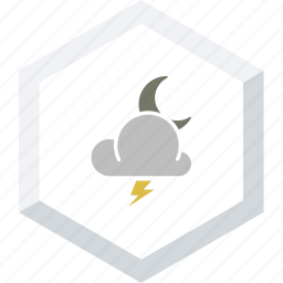 night, thunderstrom icon