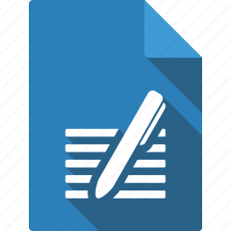 document, pen icon
