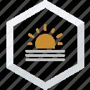 foggy, sunny icon
