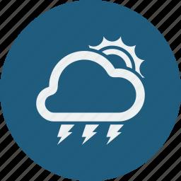 lightning, sunny icon