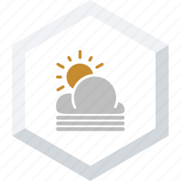 clouds, misty, sunny icon
