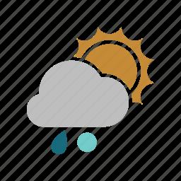 rainy, snowball, sunny icon