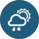 rainy, snowball, sunny icon