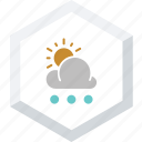 small, snowfall, sunny icon