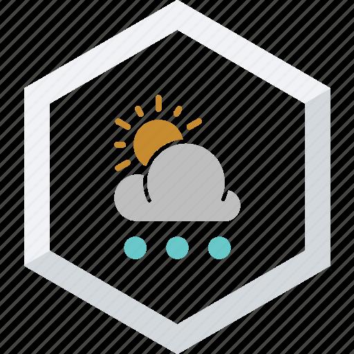 small, snowfall, sunny icon