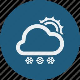 snowfall, sunny icon