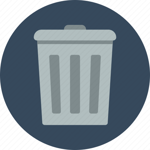 bin, can, empty, full, garbage, remove, trash icon