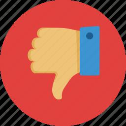 dislike, down, thumbs, unlike icon