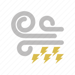 lightning, windy icon