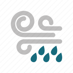rainy, windy icon