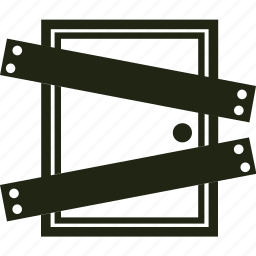 boarded door, boards, door, horror icon
