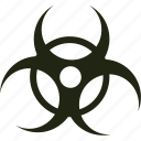 biohazard, hazardous, toxic, warning icon