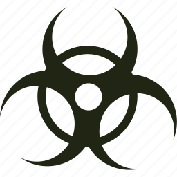 biohazard, hazardous, toxic, warning icon