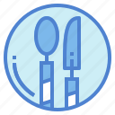 food, knife, restaurant, spoon icon