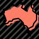 australia, geography, australian animals, map