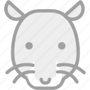 animal, mouse, rat, zoo icon