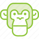 animal, apes, monkey, primate, zoo icon