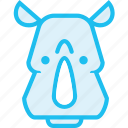 animal, rhino, rhinoceros, zoo icon