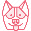 animal, dog, hasky, zoo icon