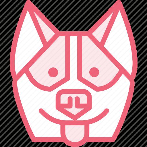 animal, dog, hasky, zoo icon