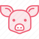 animal, hog, pig, zoo icon