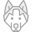 animal, dog, wolf, zoo icon