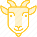 animal, goat, zoo icon