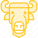 animal, bison, zoo icon