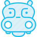 animal, hippo, hippopotamus, zoo icon