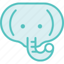 animal, elephant, zoo icon