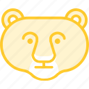 animal, bear, cat, lion, lionfemale, zoo icon
