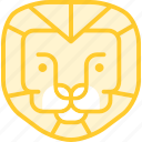animal, lion, lionmale, zoo icon