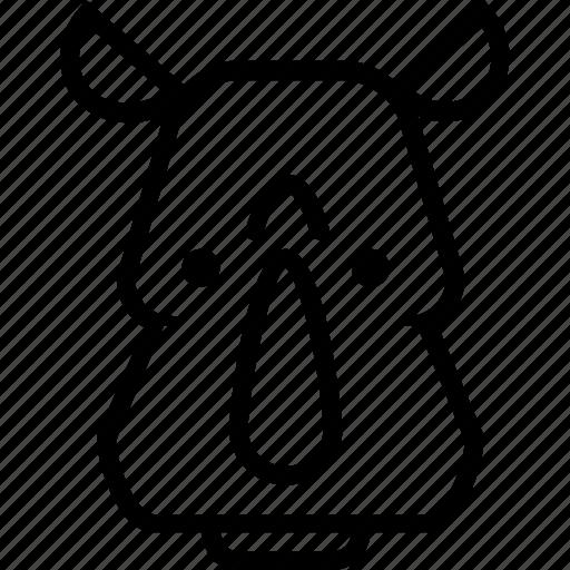 animal, face, rhino, rhinoceros, wild, wildlife, zoo icon