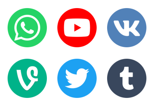 2018 Social Media Logotypes Icons By Anton D