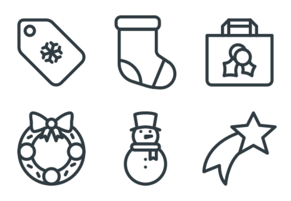 Free Line Christmas Icons Icons By Alpar Etele Meder